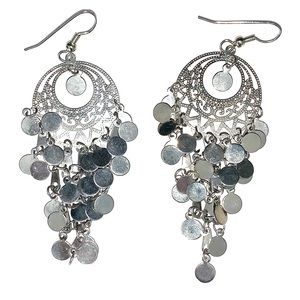 "Silver Chandelier 2"" Earrings"
